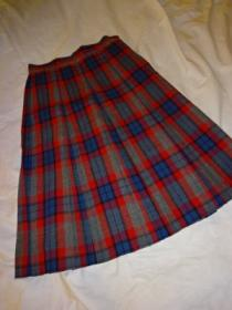 1950~60's Wool Check Pleats Skirt