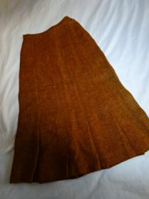 1940~50's Tweed Box Pleats Skirt
