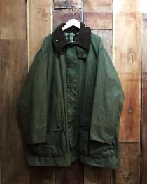 【 Barbour 】  BORDER wax cotton jacket . recommend for Men.