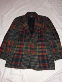 1990's Big Silhouette Check Tailored Jacket
