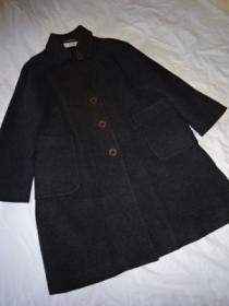 1980~90's Big Silhouette Wool Long Coat