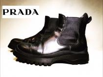【 PRADA 】 side gore design boots recommend for Men.