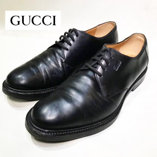 【 GUCCI 】Plain toe leather shoes  recommend for Men.写真