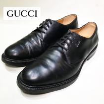 【 GUCCI 】Plain toe leather shoes  recommend for Men.