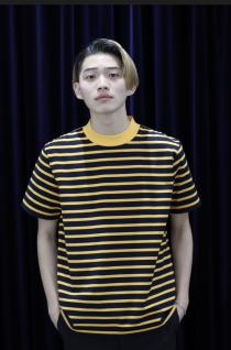 LITTLEBIG 19SS  Border S/S (Yellow/Navy)