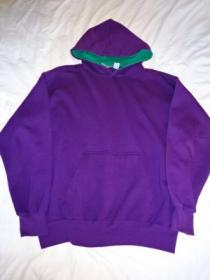 1990's Bi-Color Hooded Sweat Shirt
