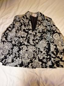 1980's Monotone Print Tailored Jacket