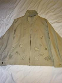 1990's Embroidery Silk Zip-Up Jacket
