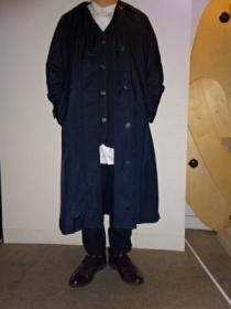 1980~90's Nylon Soutien Collar Long Coat