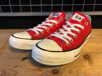 converse ALL STAR MD OX (レッド) USED