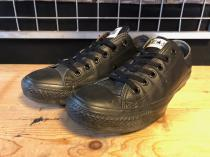 converse ALL STAR LEATHER OX (ブラックモノクローム) USED