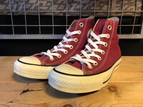 converse ALL STAR HI (マルーン) USED写真