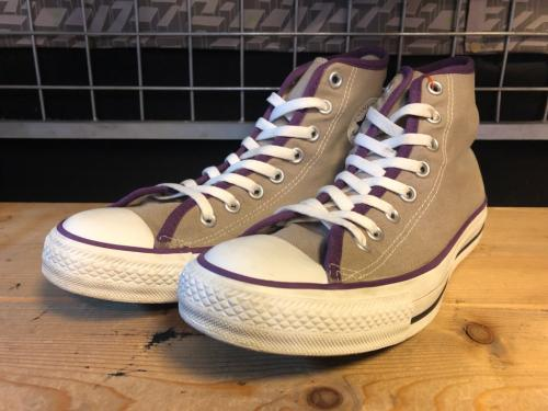 converse ALL STAR PIPING HI (グレー/パープル) USED写真