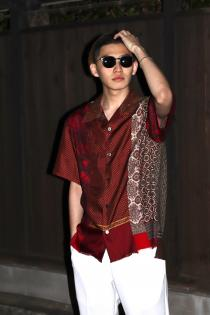 New Brand @inkjapan  Various Scarf Shirts (Red)