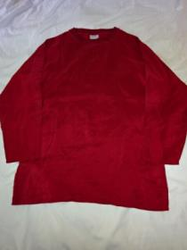 1980's Silk Long Sleeve Cut and Sewn