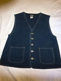 1990's Metal Button Denim Vest