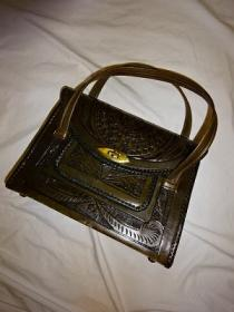 1970's Craft Leather Hand Bag