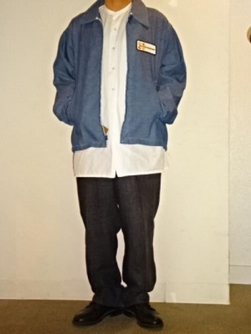 "1960~70's Chambray Work Zip-Up Jacket ""Dead Stock""写真"