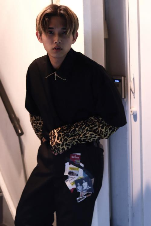 LITTLEBIG ・Zip Hi-Necked JOHN MASON SMITH ・PULL-OVER SHIRTS(LEOPARD) elephant TRIBAL fabrics ・IM work pants(Marlboro)写真