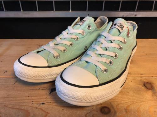 converse ALL STAR OX (ミント) USED写真