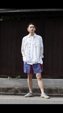 KIIT19SS Gradation Stripe Shorts