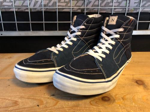 VANS×BEAUTY & YOUTH×FAT SK8-HI (ネイビー) USED写真