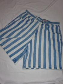 1980's Stripe Denim Shorts