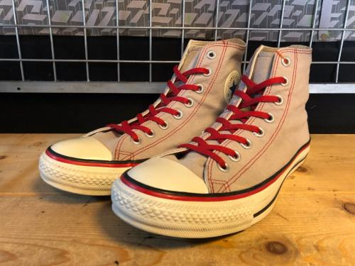 converse ALL STAR COLLEGECOLOR HI (グレー/バーガンディ) USED写真
