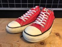 converse ALL STAR OX (レッド) USED