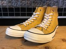 converse ALL STAR WASHEDCANVAS HI (ゴールド) USED