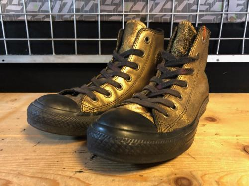 converse ALL STAR GOLDEN HI (ゴールド/ブラック) USED写真