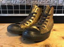 converse ALL STAR GOLDEN HI (ゴールド/ブラック) USED