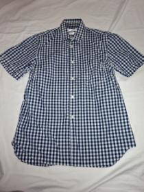Stitched Design Check Short Sleeve Shirt