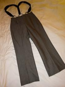 1990's Stripe Wide Suspender Pants