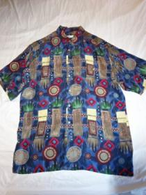 1980's Silk Short Sleeve Shirt