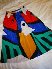 1980's Print Gather Skirt