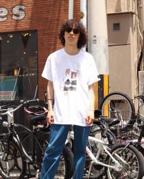 elephant TRIBAL fabrics ・プリントTEE(Bike)