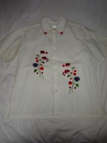 1990's Embroidery Short Sleeve Shirt