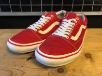VANS OLD SKOOL CVS (レッド/ホワイト) USED