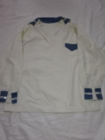 1920~30's Bi Color Sailor Collar Shirt