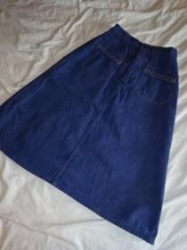 1970's Design Pocket Denim Skirt