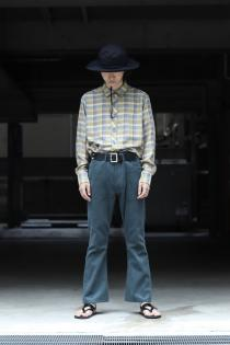 LITTLEBIG 19AW New Arrival ・Checked SH(YEL or PPL) ・Corduroy Flare Pants