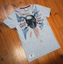 Red Torpedo Geared Blighty Grey Marle T-Shirt