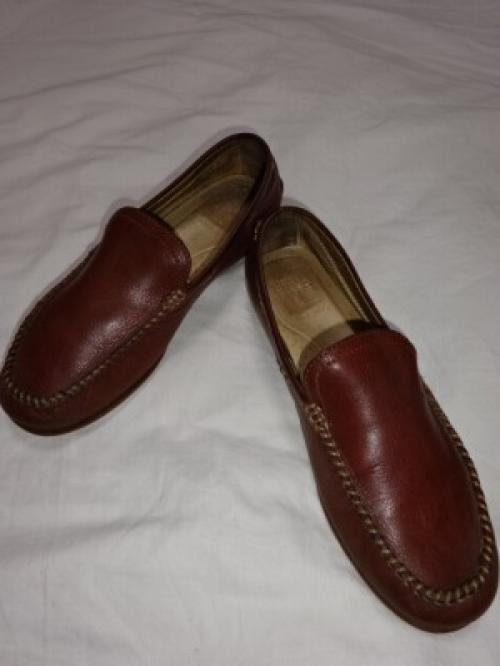 "Stitched Design Leather Vamp Loafers ""FRYE""写真"
