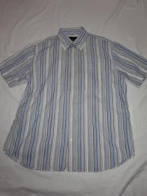 1990's Design Stripe Short Sleeve Shirt