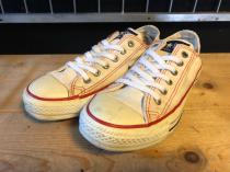 converse ALL STAR OX (ホワイト/レッド) USED
