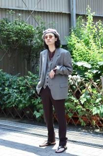 LITTLEBIG 19AW New Arrival ・Single Breasted Jacket ・Slim Trousers ・Waistcoat ・Striped Satin SH