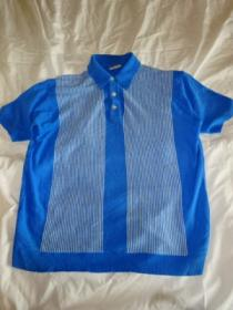 1960's Switch Design Short Sleeve Banlon Shirt