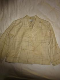 1970~80's Design Linen Mix Summer Jacket