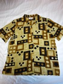 1990's Short Sleeve Open Collar Shirt